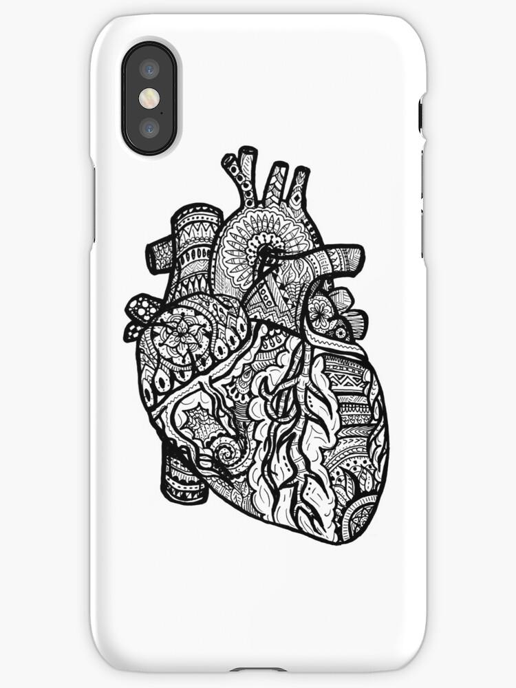 Anatomisches Herz Zendoodle\