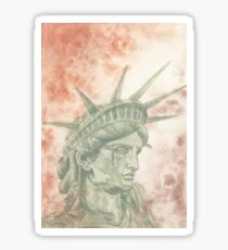 Weeping Lady Liberty Sticker