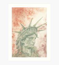 Weeping Lady Liberty Art Print