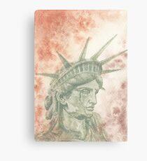 Weeping Lady Liberty Canvas Print
