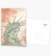 Weeping Lady Liberty Postcards