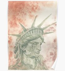 Weeping Lady Liberty Poster