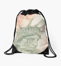 Weeping Lady Liberty Drawstring Bag