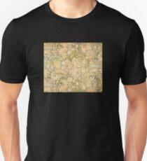 'Peonies' by Alphonse Mucha (Reproduction) Unisex T-Shirt