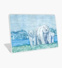 Polar Bear Family Painting Laptop Skin