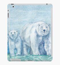 Polar Bear Family Painting iPad Case/Skin