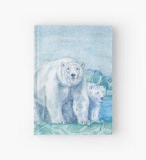 Polar Bear Family Painting Hardcover Journal