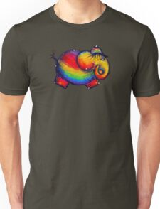 Rainbow Elephant Tshirt Unisex T-Shirt