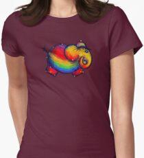Rainbow Elephant Tshirt Womens Fitted T-Shirt