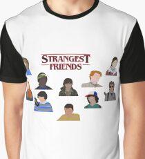 Stranger Things Strangest Friends Poster Graphic T-Shirt