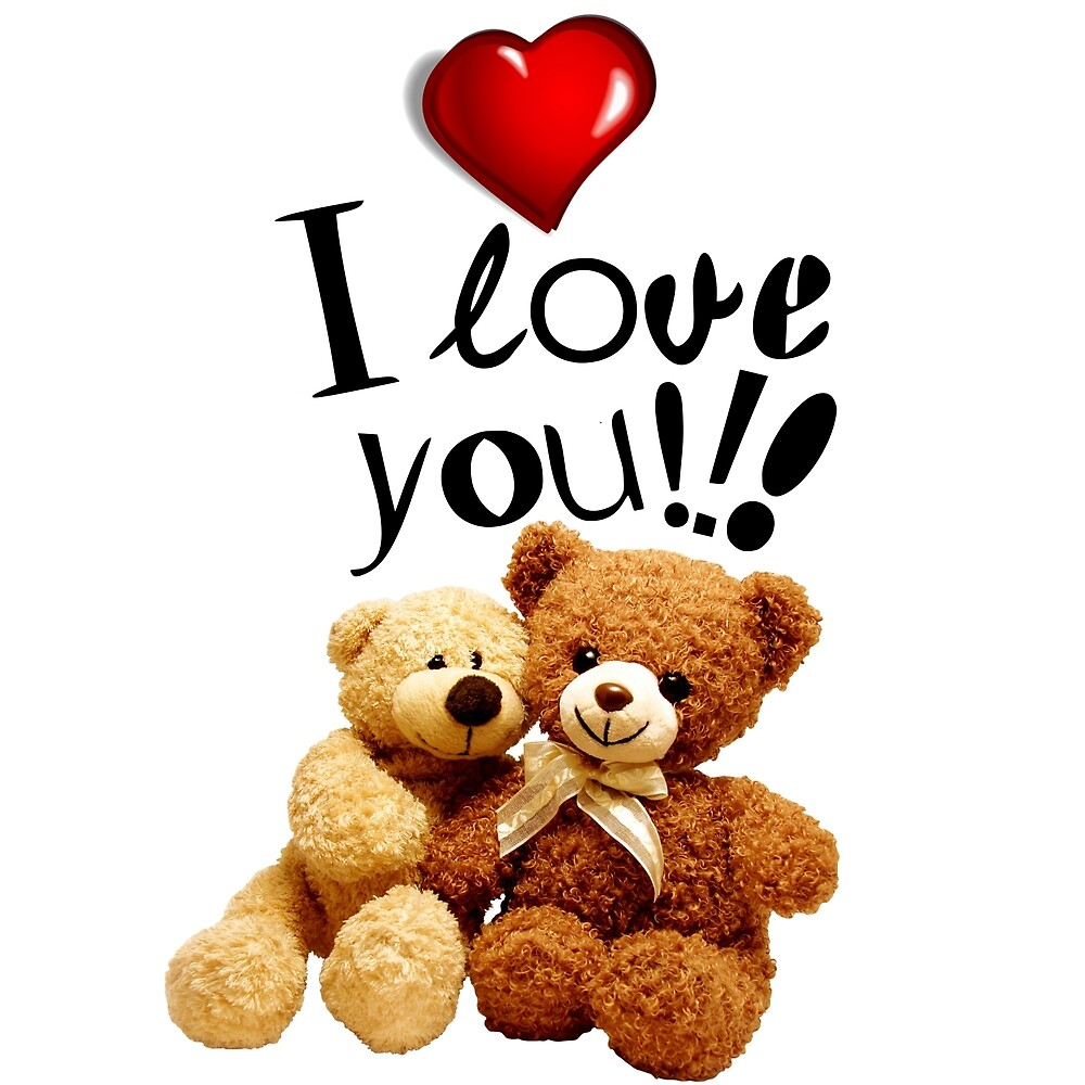2 teddy bears i love you by dimiluxedesign redbubble 2 teddy bears i love you by dimiluxedesign voltagebd Gallery