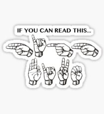 if you can read this Sticker