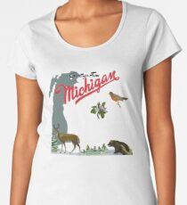 Greetings From Michigan! Women's Premium T-Shirt