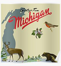 Sufjan stevens posters redbubble greetings from michigan poster m4hsunfo