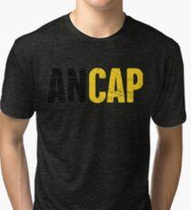 Distressed AnCap - Anarcho Capitalist Tri-blend T-Shirt
