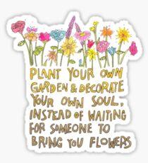 Plant Your Own Garden Sticker
