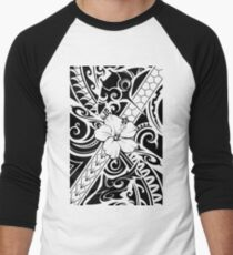Hawaiian style tribal 2 Men's Baseball ¾ T-Shirt