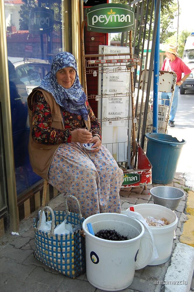 OLD WOMAN AT KANLICA VILLAGE by annamezcla