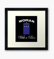 Woman With A Box Framed Print