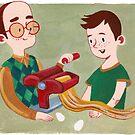 Pasta- Eltern und Kind machen von Meghan Zaremba