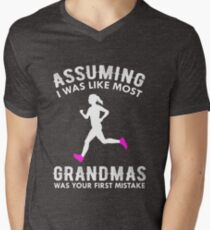 Assuming I Was Like Most Grandmas Funny Running Men's V-Neck T-Shirt