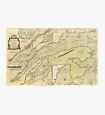 Map of the Saint Lawrence River (1771) Photographic Print