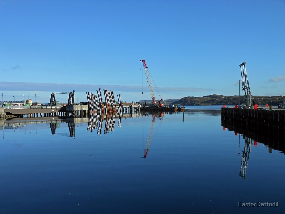 Industrial Landscape, Stornoway, Isle of Lewis, Scotland by EasterDaffodil