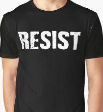 Resist Distressed Against Trump Politics Graphic T-Shirt
