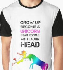 Unicorn Stab (Rainbow) Graphic T-Shirt