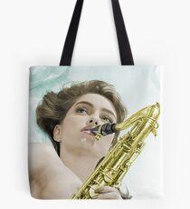 Donna's sax Colourised Tote Bag