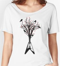 The guitar tree, heavy metal version Women's Relaxed Fit T-Shirt