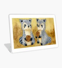 Silly Raccoons & Pinecones Laptop Skin