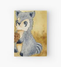 Silly Raccoons & Pinecones Hardcover Journal