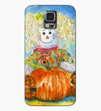 Scarecrow Girl Doll & Pumpkin Case/Skin for Samsung Galaxy