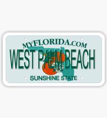 West Palm Beach Florida License Plate Sticker