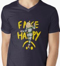 fake happy Men's V-Neck T-Shirt