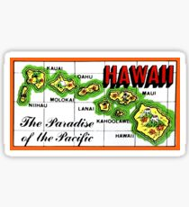 Hawaii State Map Vintage Travel Decal Sticker