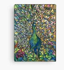 Stained Glass Peacock Canvas Print