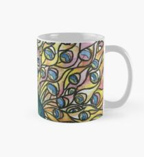 Stained Glass Peacock Mug