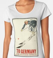 Vintage Poster Winter Sports Women's Premium T-Shirt
