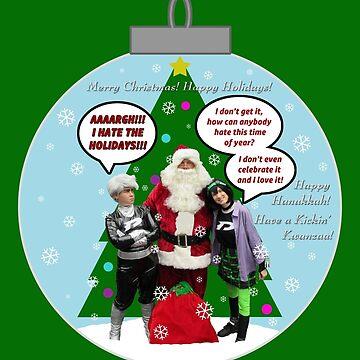 Danny Phantom ornament Christmas and holiday card by phantompearl