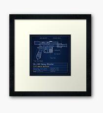 DL-44 Blueprint (Han Solo's Pistol) Framed Print