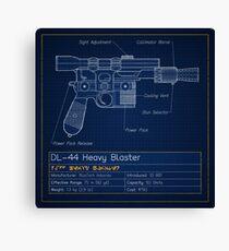 DL-44 Blueprint (Han Solo's Pistol) Canvas Print