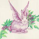 Winged Runaway Bunny by HAJRA MEEKS