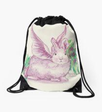 Winged Runaway Bunny Drawstring Bag