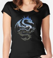 Metal Blue Dragon Women's Fitted Scoop T-Shirt