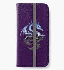 Metal Blue Dragon iPhone Wallet/Case/Skin