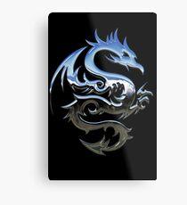 Metal Blue Dragon Metal Print