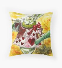 Alice's White Rabbit Throw Pillow