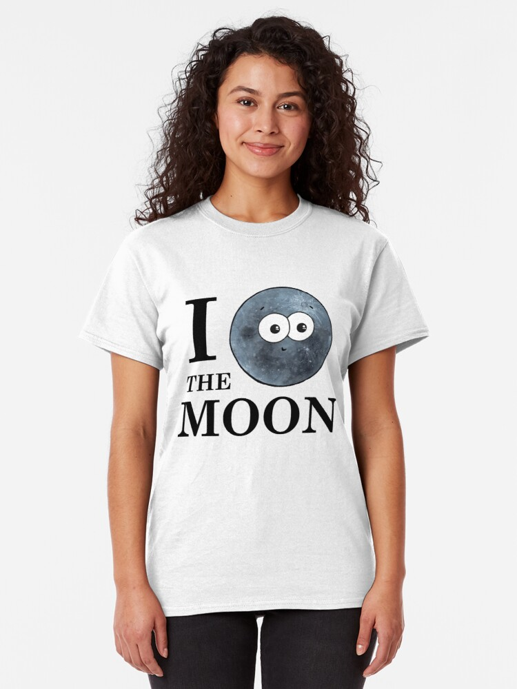 Alternate view of I Heart The Moon Classic T-Shirt